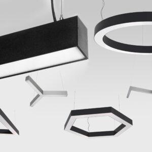 Профильные фигурные светильники