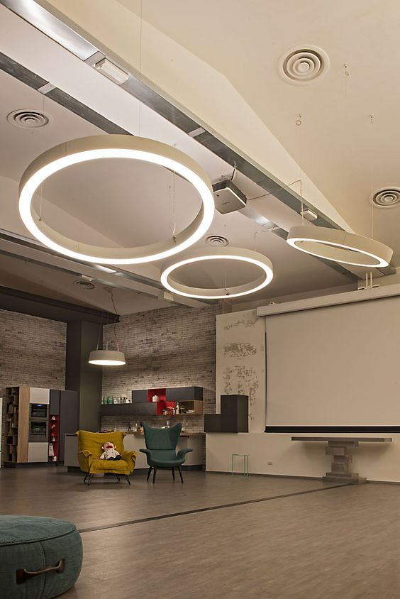 Дизайнерский подвесной светодиодный светильник Wp hole ring