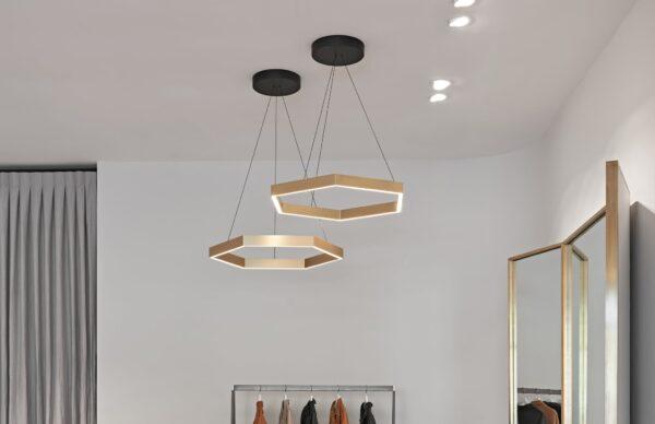 Дизайнерский подвесной светодиодный светильник Wp Hexago 202