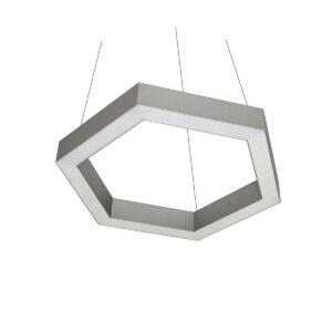 Дизайнерский подвесной светодиодный профильный светильник Wp Hexago 02 profile