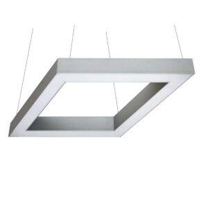 Дизайнерский подвесной светодиодный профильный светильник Wp Romb