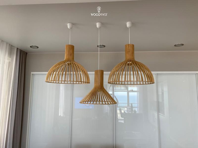 Светильники из дерева в современных интерьерах
