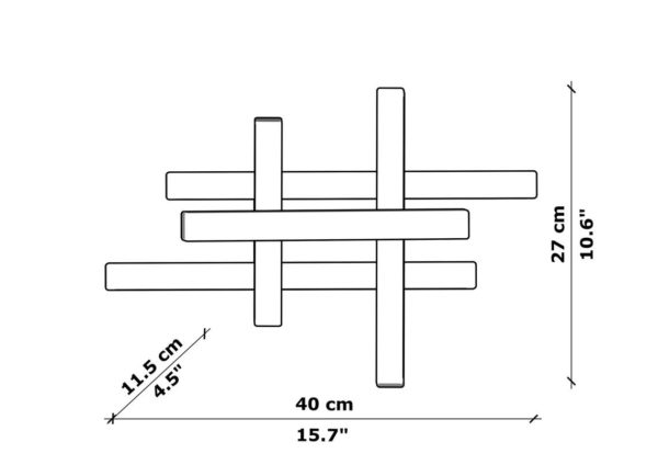 Деревянный бра WP SC lines 40