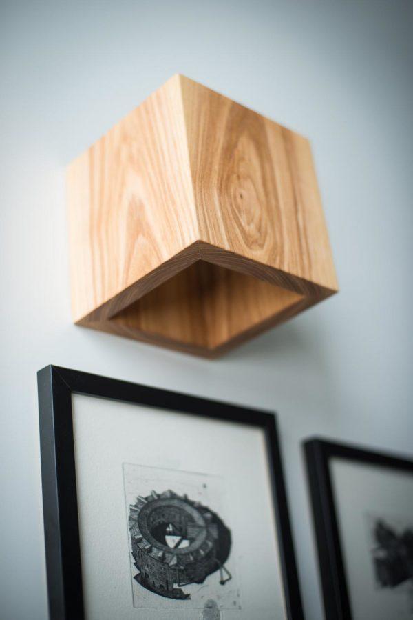 Бра деревянный светильник WP SC CUBE 14