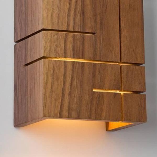 Деревянный настенный светильник WP CS slices